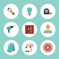Colorful Construction Icons vector