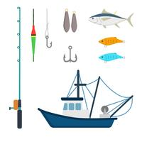 Platte visvectoren