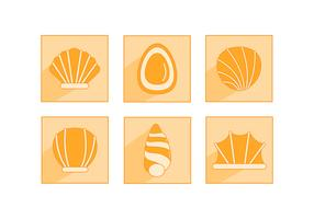 Flat Sea Scallops Icon