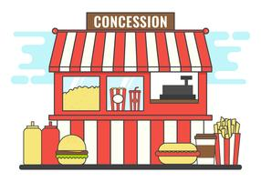 illustration vectorielle de concession stand