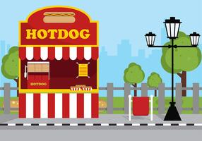 Koncessionsställ Hotdog Gratis Vector