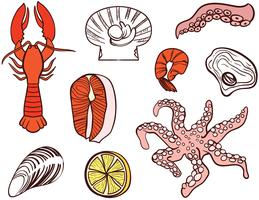 Vecteurs de fruits de mer