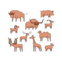 vetor de ícone de linha de animal livre