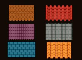 Roof Tile Collection Vector