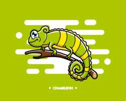 Vector de camaleón gratis