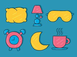 Hand Drawn Bedtime Element Vector