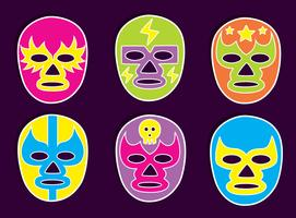 Mexican Wrestler Mask Vector