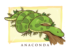 illustration de dessin animé anaconda