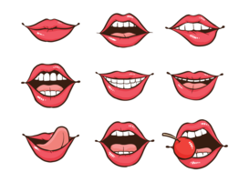 Vectores de Boca da Mulher