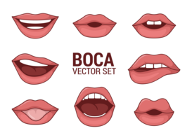 Boca-Vektoren der Frau