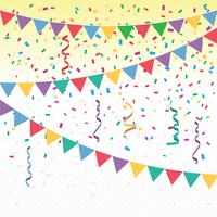 Bright Colorful Vector Confetti Background
