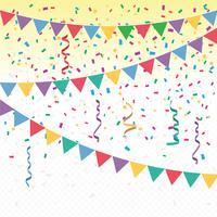 Fundo de confetes de vetores coloridos brilhantes