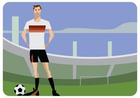 Vector de jugador de fútbol