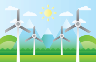Wind Turbine Natural Resources vector