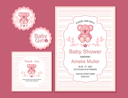 Babyshower Vector Illustration