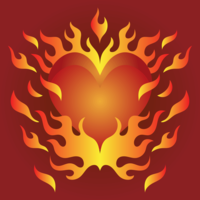 Flaming Heart Heart vector