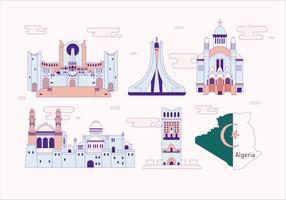 Algerije Landmark Vector