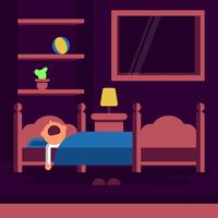 Illustration vectorielle de couchage Bedtime