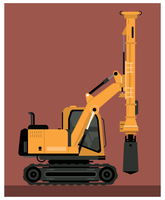 Heavy Drill Machine Vector