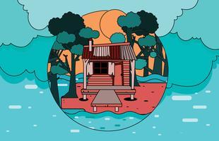 bayou hus vektor