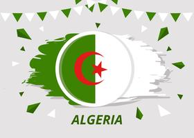 Pensel Flagga Algeriet Vector