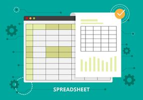 Free Spreadsheet Vector Illustration
