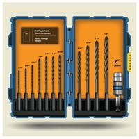 Drill Bit Set Box Vector