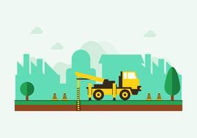 Flat Drilling Truck