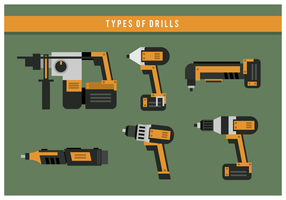Drill Types Vector