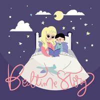 Vetor de ilustração de Bedtime Story