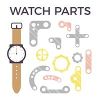 Watch Parts Vector