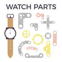 Uhr Teile Vektor