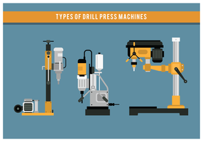 Drill Press Machine Types vecteur