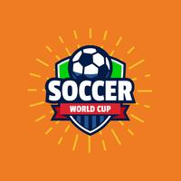 World cup soccer logo badge vector