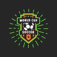 Insignia de logo de vector de Copa del mundo