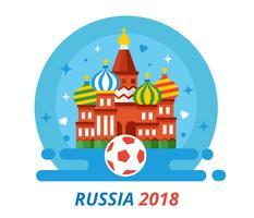 Rússia 2018 Copa do Mundo Vector