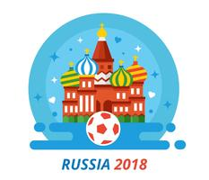 Russland-Weltcup-Vektor 2018