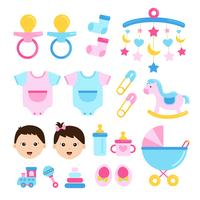 Baby shower Set Icon