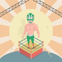 Gratis Mexikansk Wrestler Illustration