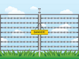 Razor Wire Danger Vector