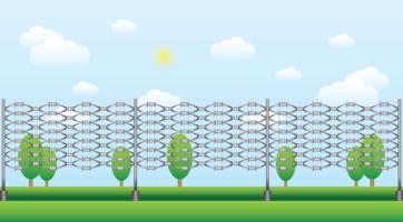 Razor Wire Landscape