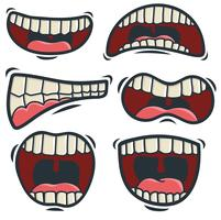 Vector Set Of Cartoon Mouth