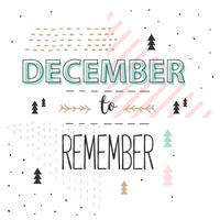 December To Remember Vector