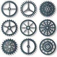 Vector Various Flat Watch Parts