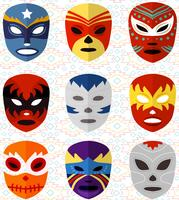 Free Mexican Wrestling Masks Vectors