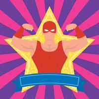Mexican Wrestler Pose Illustration