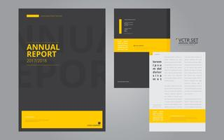 Annual Report Elegant Geometric Flat Design Template vector
