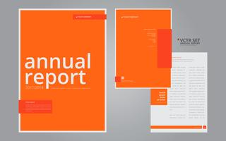 Relatório anual Modelo de design plano geométrico elegante