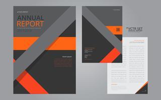 Rapporto annuale Elegante modello geometrico design piatto