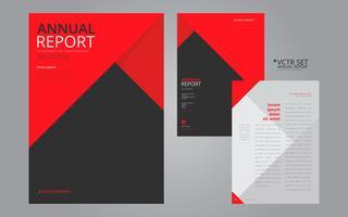 Informe anual elegante plantilla de diseño plano geométrico
